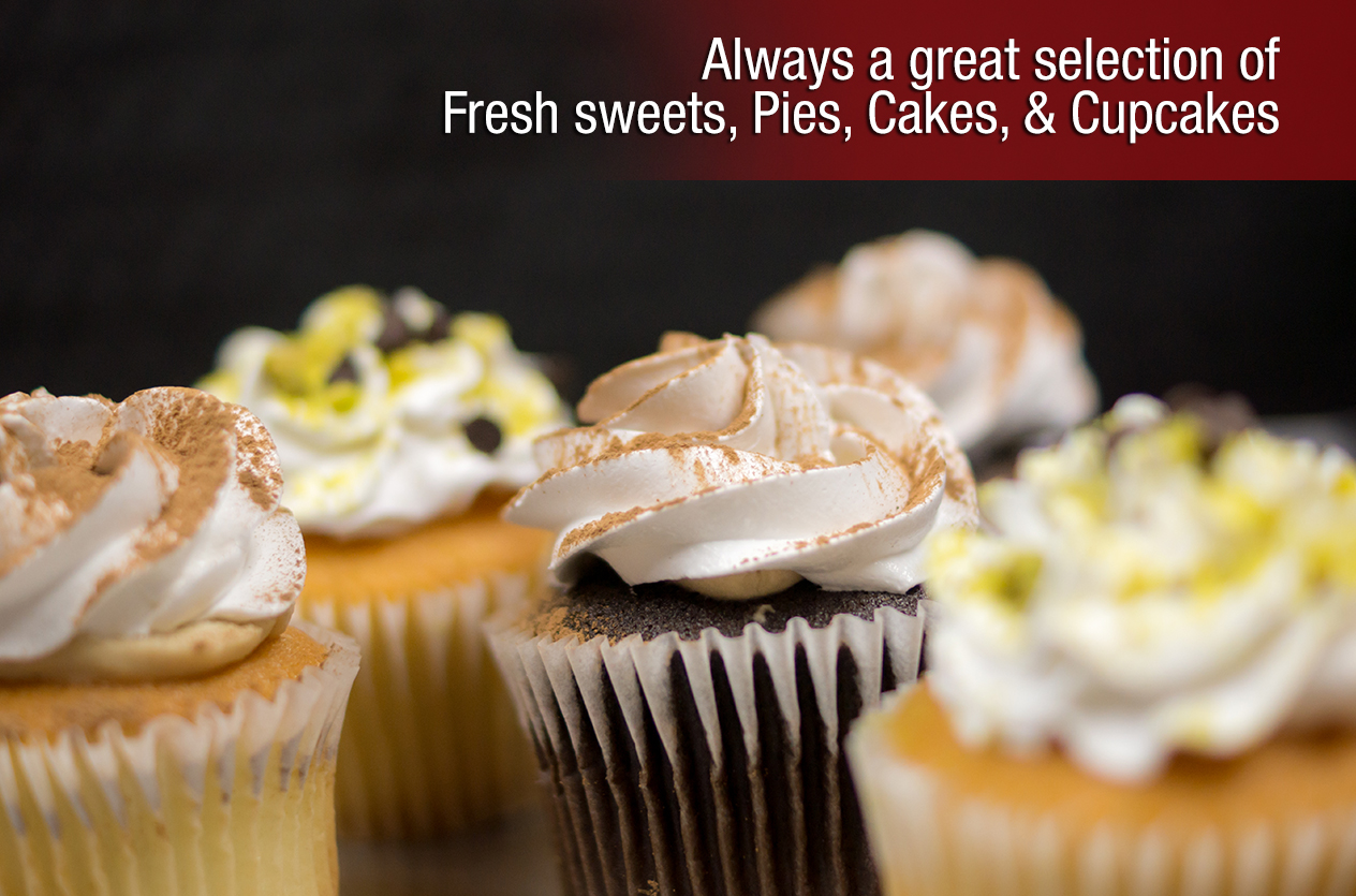 Fresh sweets, pies, cakes & cupcakes