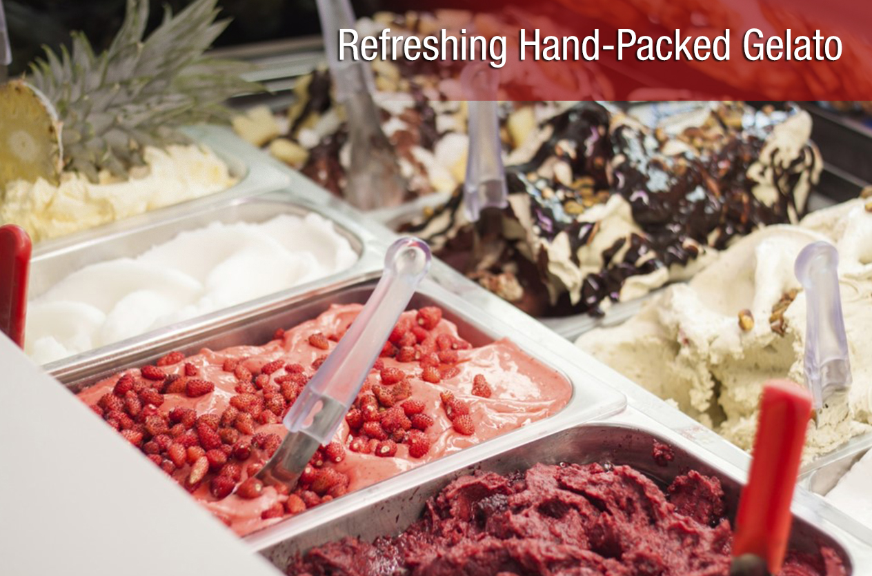 Refreshing hand-packed gelato