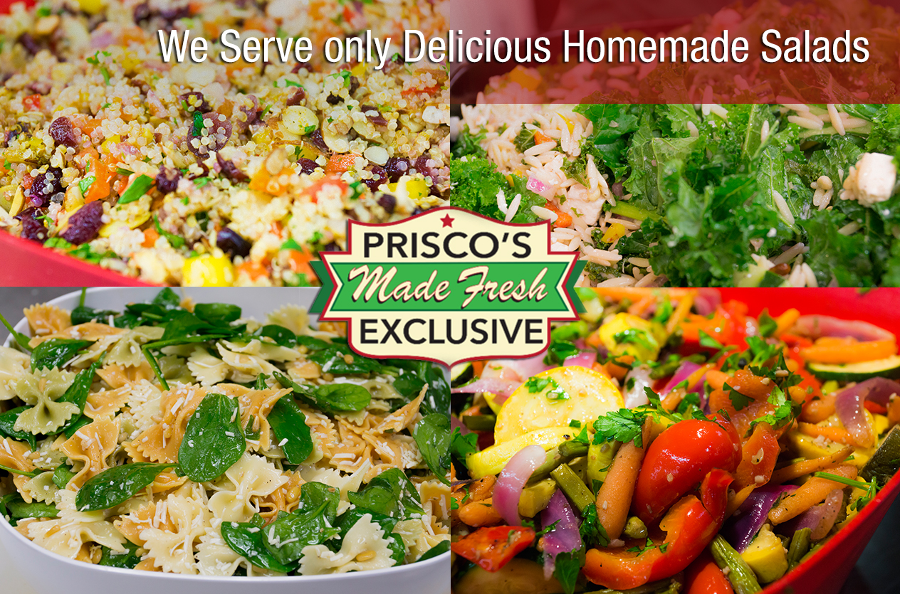 Delicious homemade salads