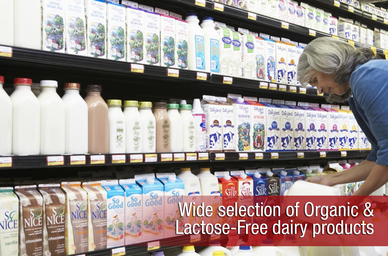Wide selection of Organic