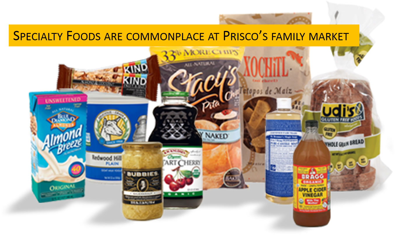 Specialty foods are commonplace at Prisco's