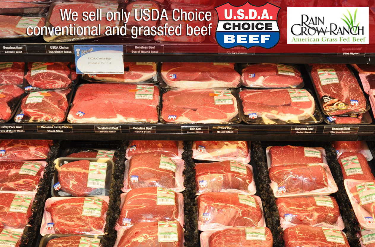 We sell only USDA Choice beef