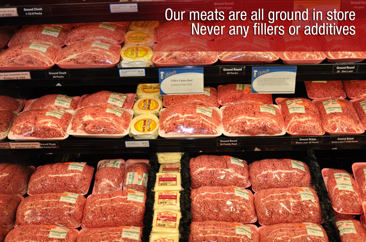 Our meats are all ground in-store