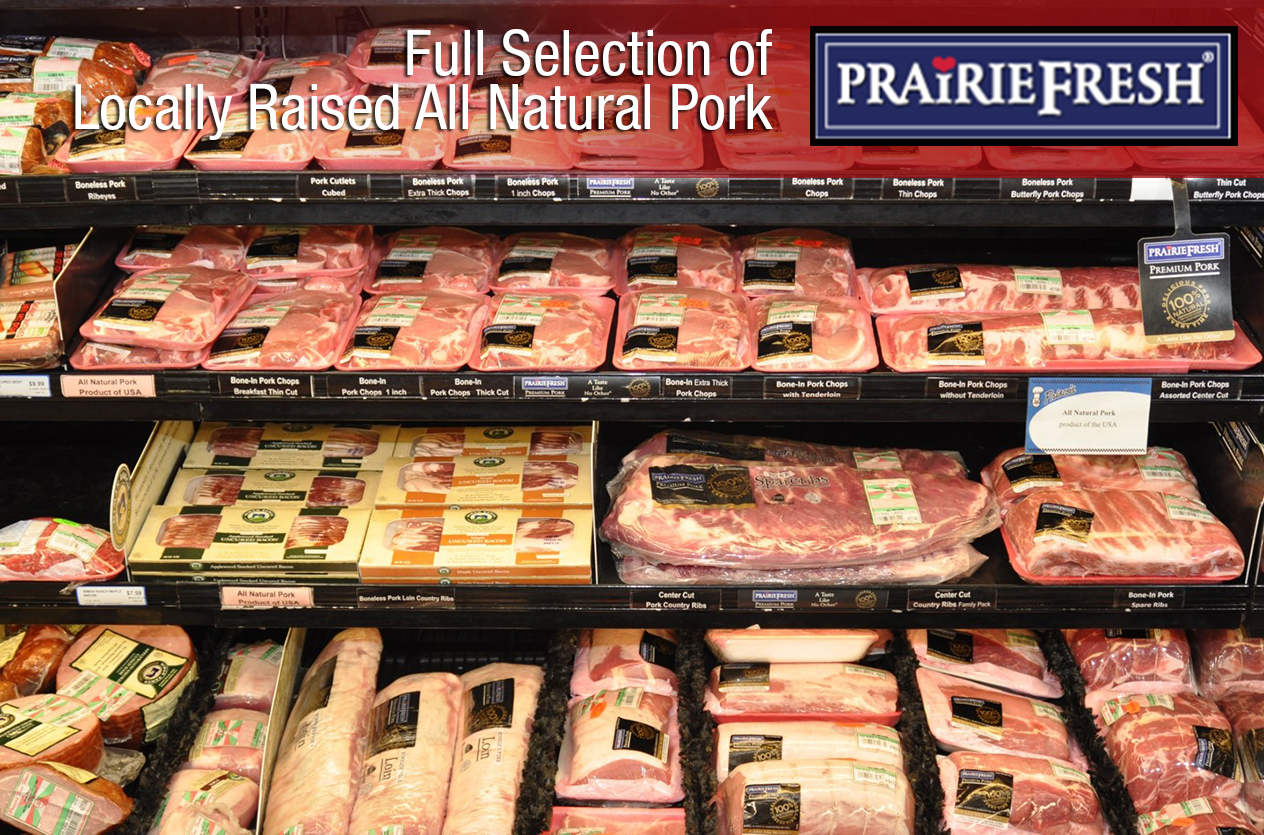 Full selection of all natural pork