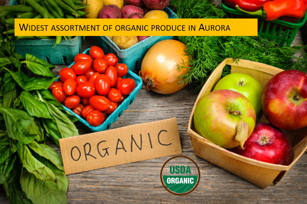 Widest assortment of organic produce